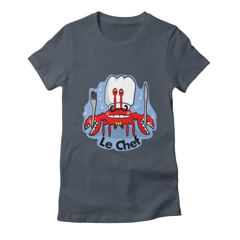 The Crabby Chef Women's T-Shirt by elledeegee's Artist Shop