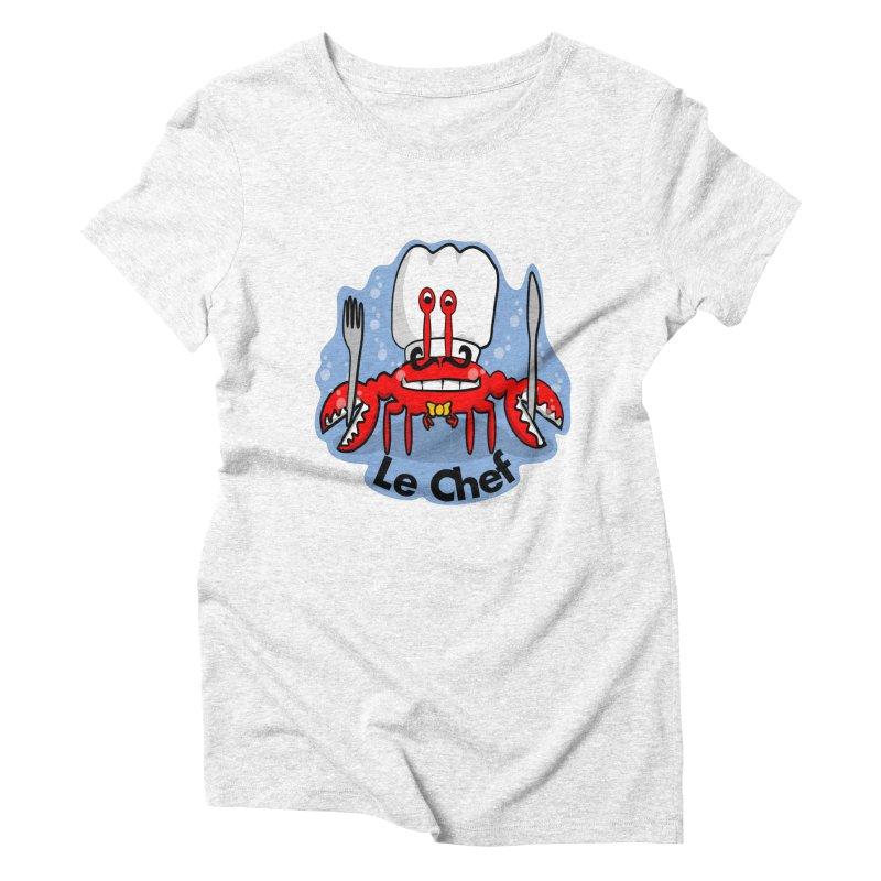 The Crabby Chef Women's Triblend T-shirt by elledeegee's Artist Shop