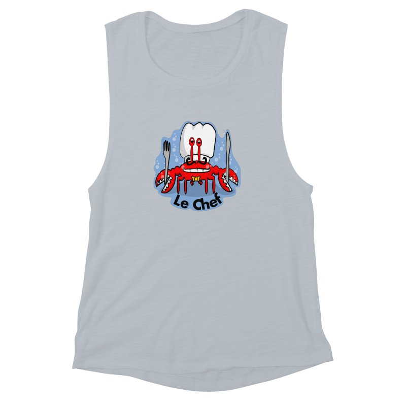 The Crabby Chef Women's Muscle Tank by elledeegee's Artist Shop