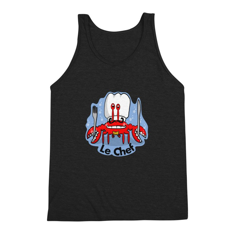 The Crabby Chef Men's Triblend Tank by elledeegee's Artist Shop