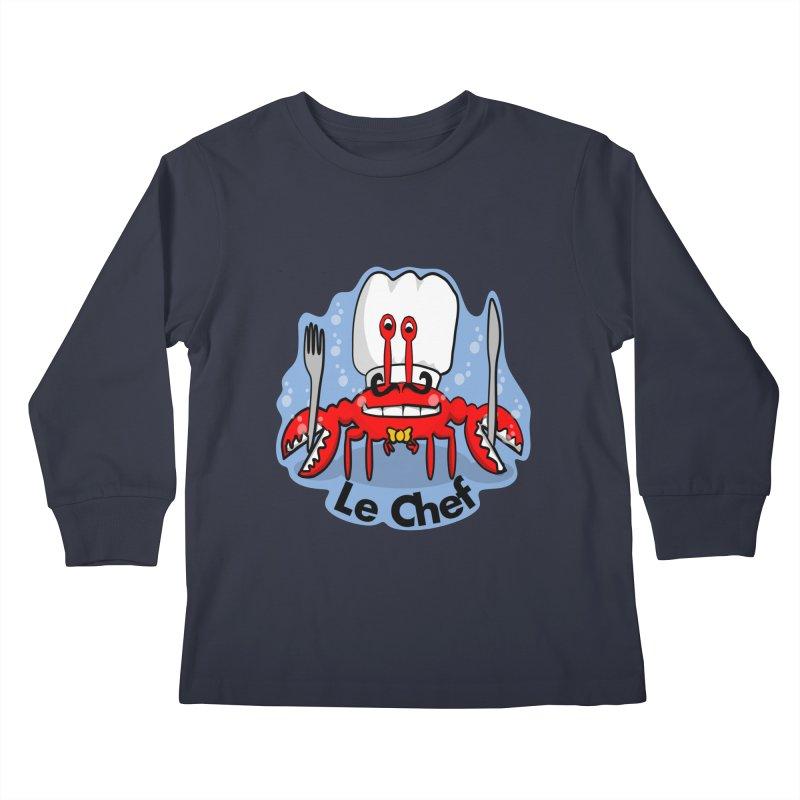 The Crabby Chef Kids Longsleeve T-Shirt by elledeegee's Artist Shop