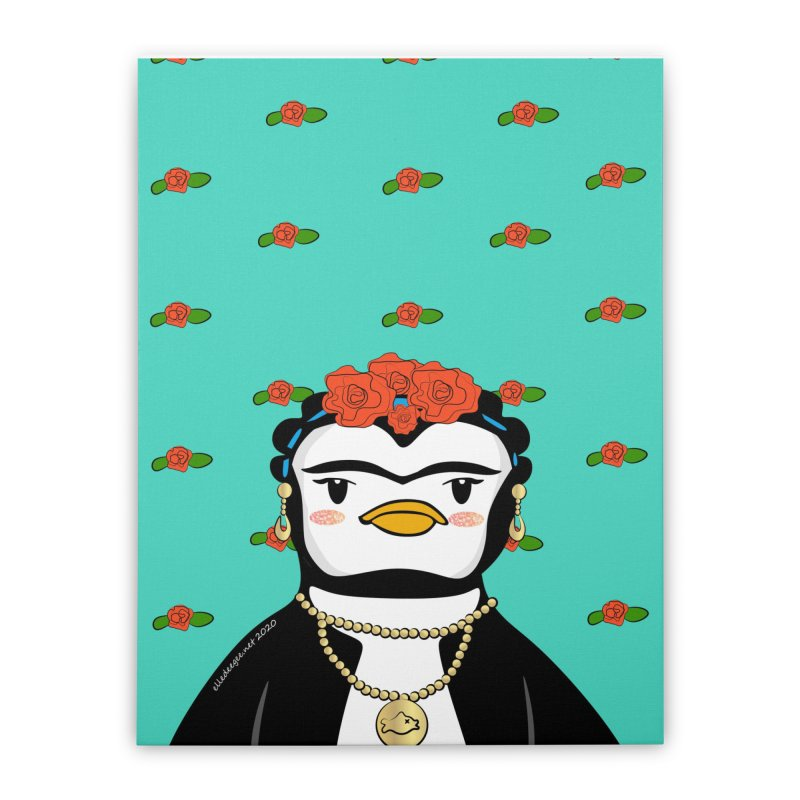 Frida Pengahlo Home Stretched Canvas by elledeegee's Artist Shop