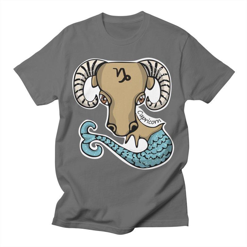 Capricorn Fish Goat Men's T-Shirt by elledeegee's Artist Shop