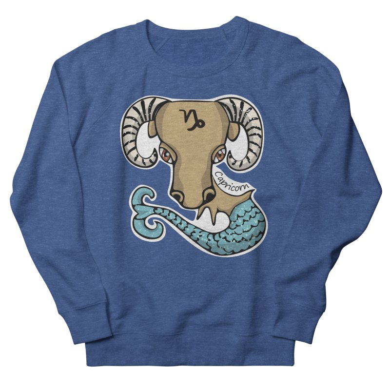 Capricorn Fish Goat Men's Sweatshirt by elledeegee's Artist Shop