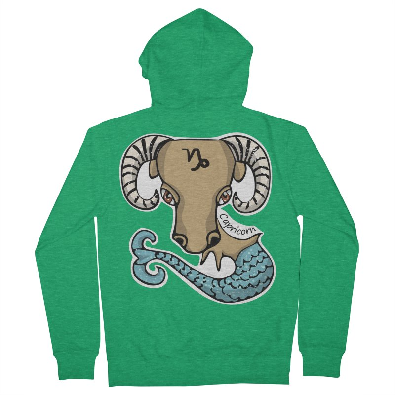 Capricorn Fish Goat Men's Zip-Up Hoody by elledeegee's Artist Shop