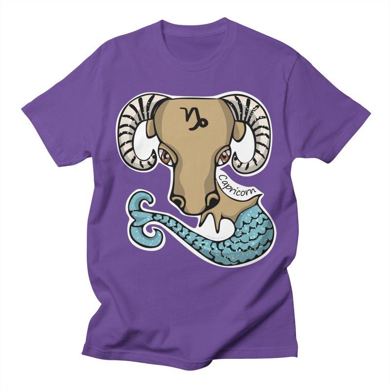 Capricorn Fish Goat Men's Regular T-Shirt by elledeegee's Artist Shop