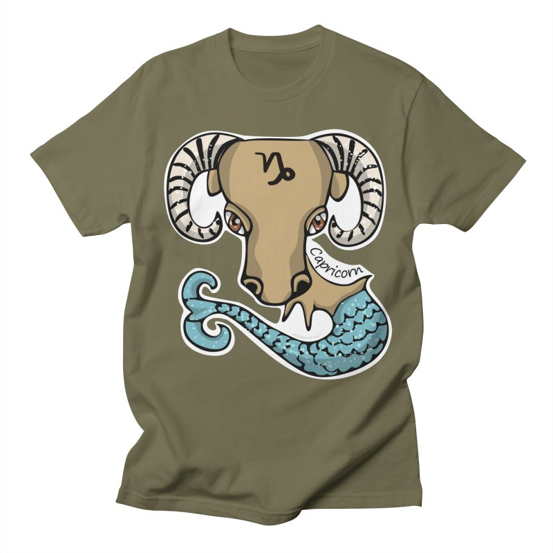 Capricorn Fish Goat Men's Regular T-Shirt by elledeegee's Artist Shop