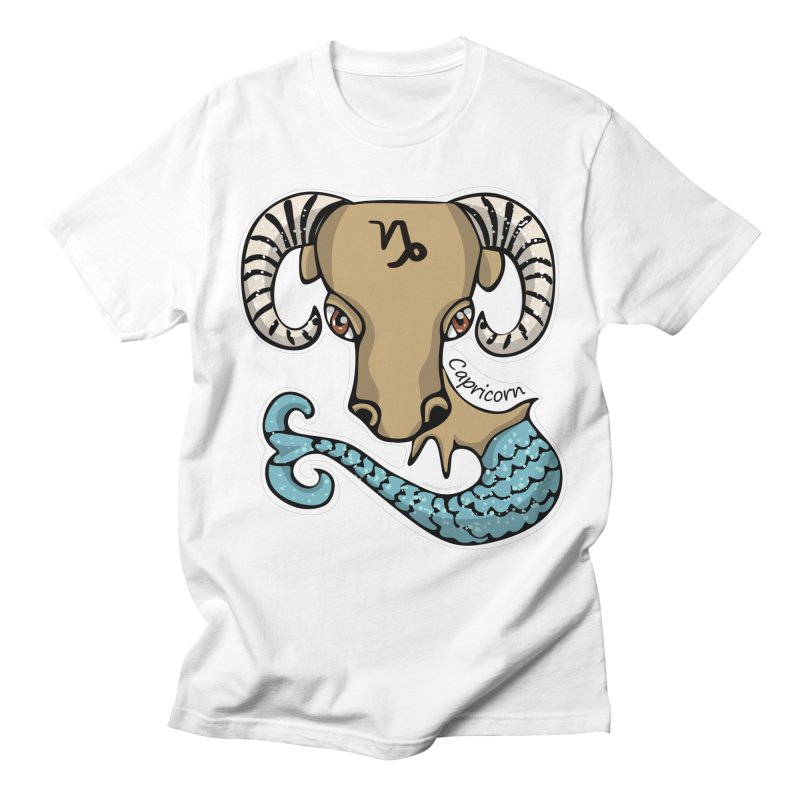 Capricorn Fish Goat Men's T-shirt by elledeegee's Artist Shop