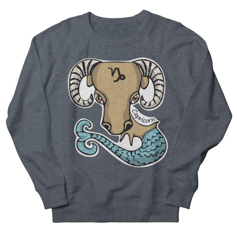 Capricorn Fish Goat Men's French Terry Sweatshirt by elledeegee's Artist Shop