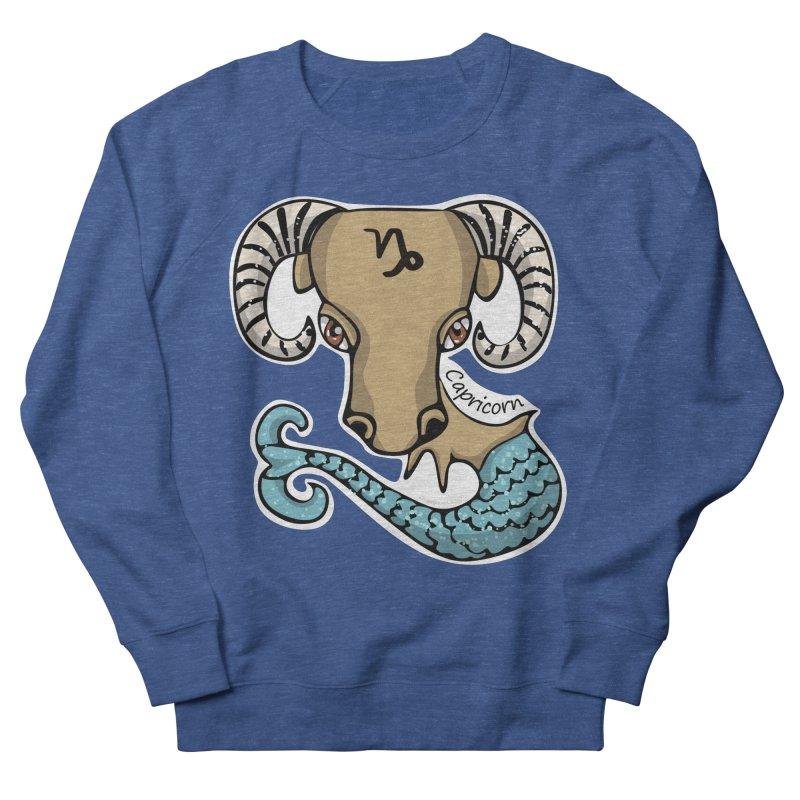 Capricorn Fish Goat Men's Sweatshirt by elledeegee's Artist Shop