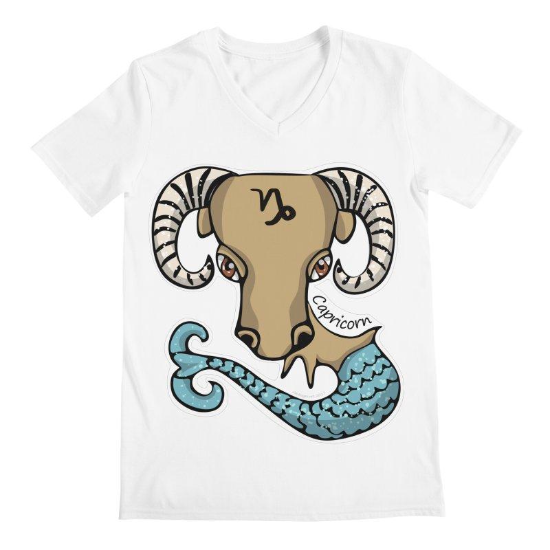 Capricorn Fish Goat Men's V-Neck by elledeegee's Artist Shop