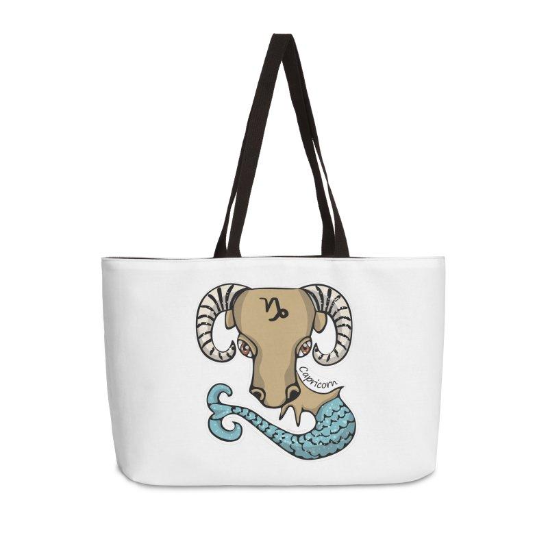 Capricorn Fish Goat Accessories Weekender Bag Bag by elledeegee's Artist Shop