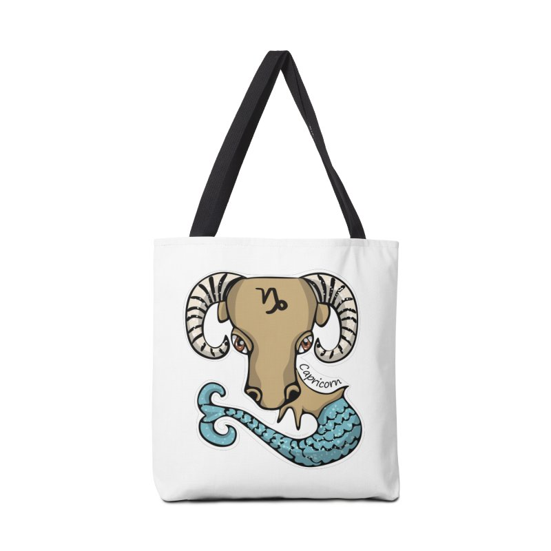 Capricorn Fish Goat Accessories Tote Bag Bag by elledeegee's Artist Shop