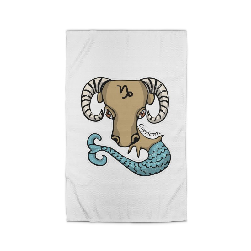 Capricorn Fish Goat Home Rug by elledeegee's Artist Shop