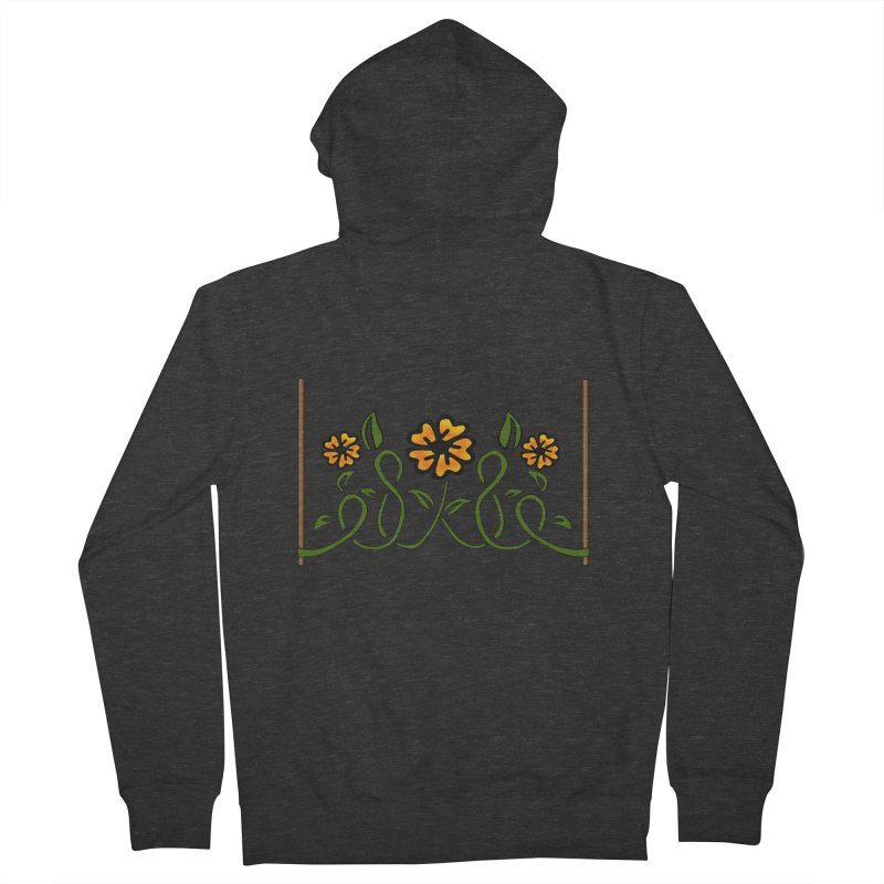 Stenciled Flowers Women's Zip-Up Hoody by elledeegee's Artist Shop