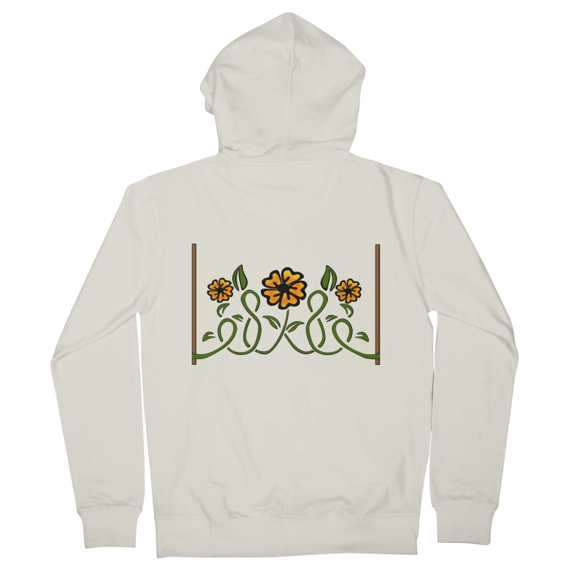 Stenciled Flowers Men's Zip-Up Hoody by elledeegee's Artist Shop