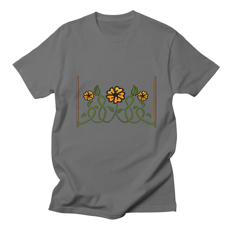 Stenciled Flowers Men's T-Shirt by elledeegee's Artist Shop