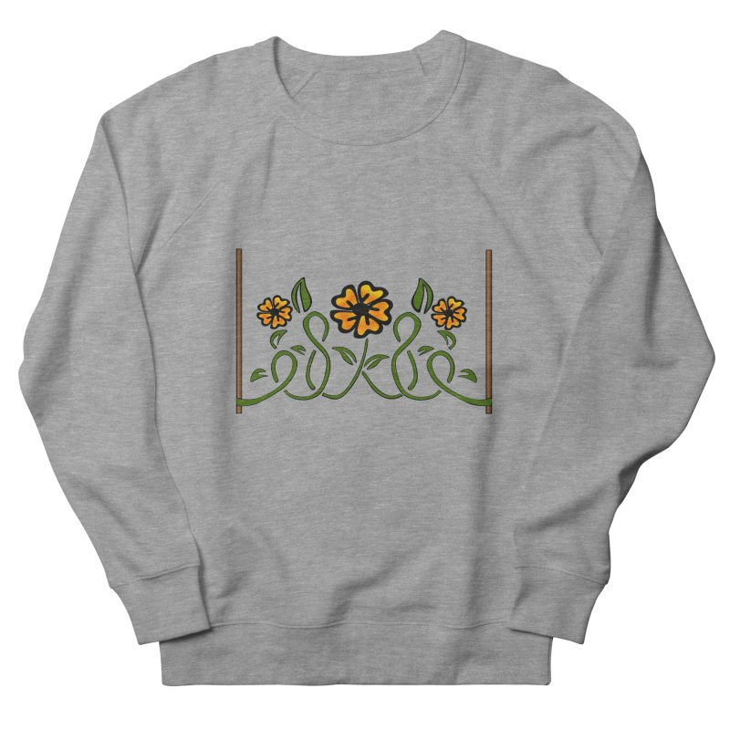 Stenciled Flowers Women's Sweatshirt by elledeegee's Artist Shop