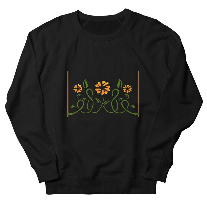 Stenciled Flowers Women's French Terry Sweatshirt by elledeegee's Artist Shop