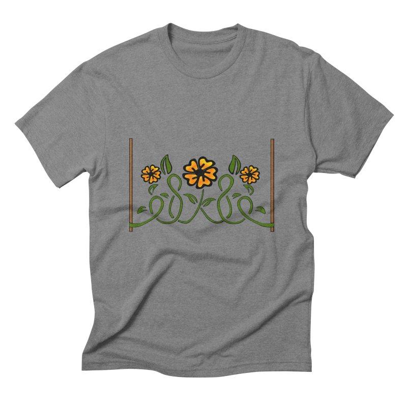 Stenciled Flowers Men's Triblend T-Shirt by elledeegee's Artist Shop