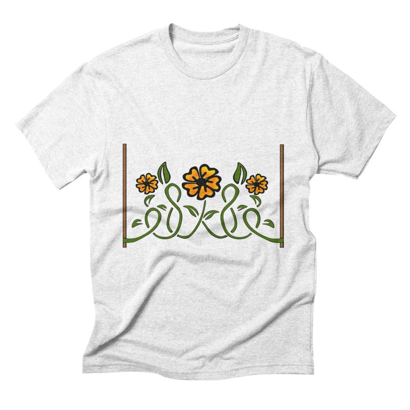 Stenciled Flowers Men's Triblend T-shirt by elledeegee's Artist Shop