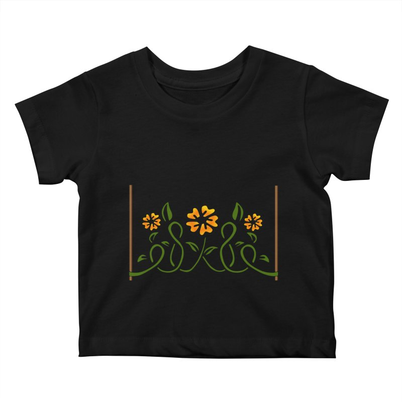 Stenciled Flowers Kids Baby T-Shirt by elledeegee's Artist Shop