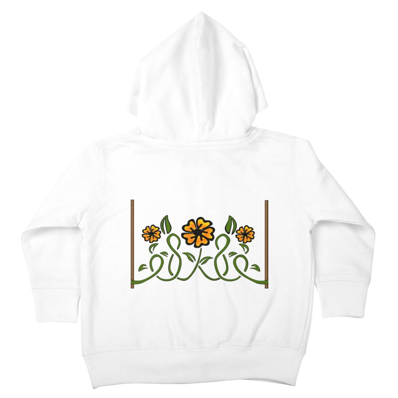 Stenciled Flowers Kids Toddler Zip-Up Hoody by elledeegee's Artist Shop