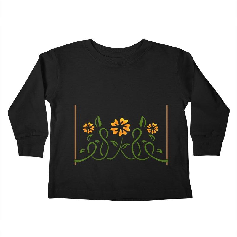 Stenciled Flowers Kids Toddler Longsleeve T-Shirt by elledeegee's Artist Shop
