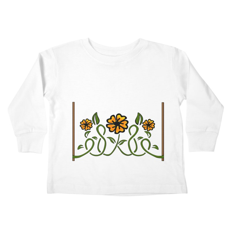 Stenciled Flowers Kids Toddler Longsleeve T-Shirt by elledeegee's Artist Shop