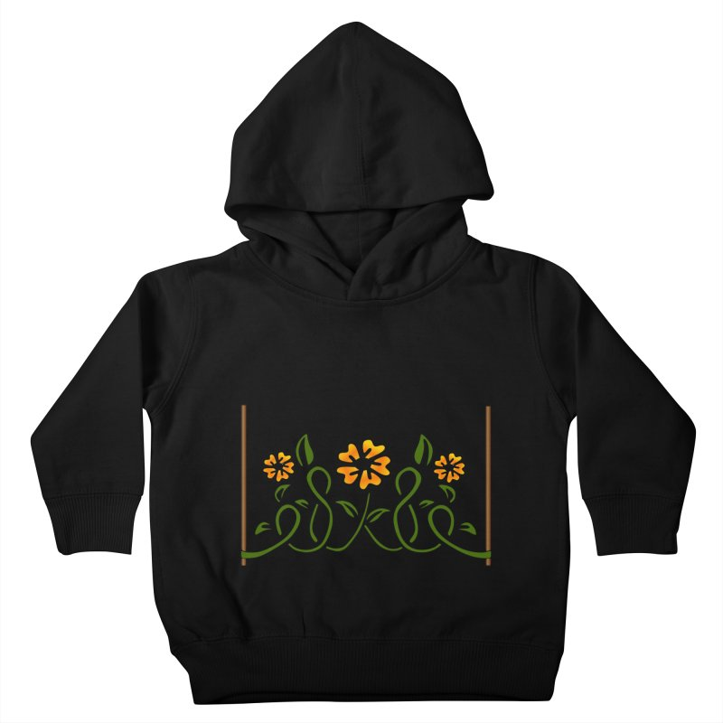 Stenciled Flowers Kids Toddler Pullover Hoody by elledeegee's Artist Shop