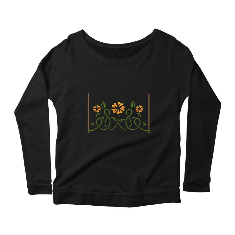 Stenciled Flowers Women's Longsleeve T-Shirt by elledeegee's Artist Shop