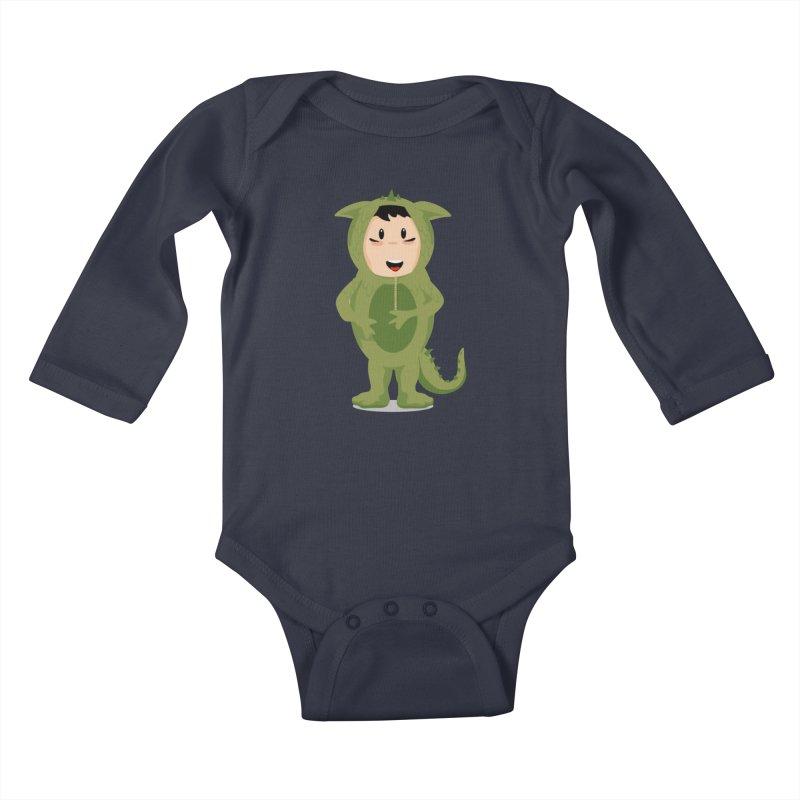 George Kids Baby Longsleeve Bodysuit by elledeegee's Artist Shop