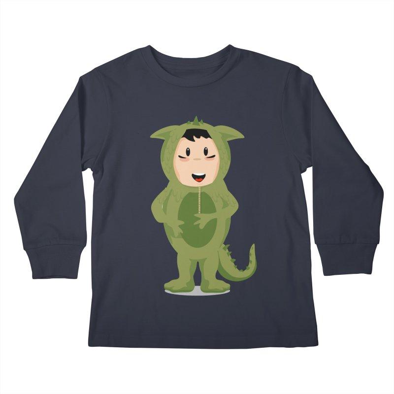 George Kids Longsleeve T-Shirt by elledeegee's Artist Shop