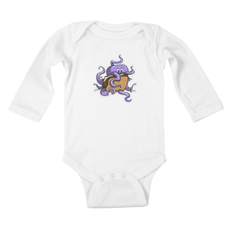 Taki Taco Kids Baby Longsleeve Bodysuit by elledeegee's Artist Shop