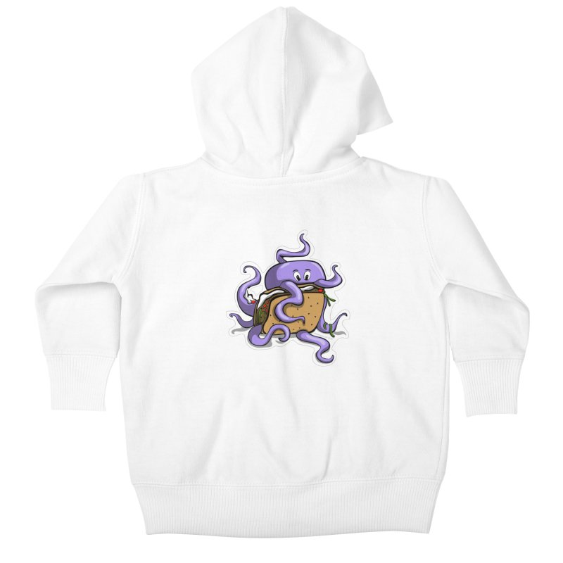 Taki Taco Kids Baby Zip-Up Hoody by elledeegee's Artist Shop