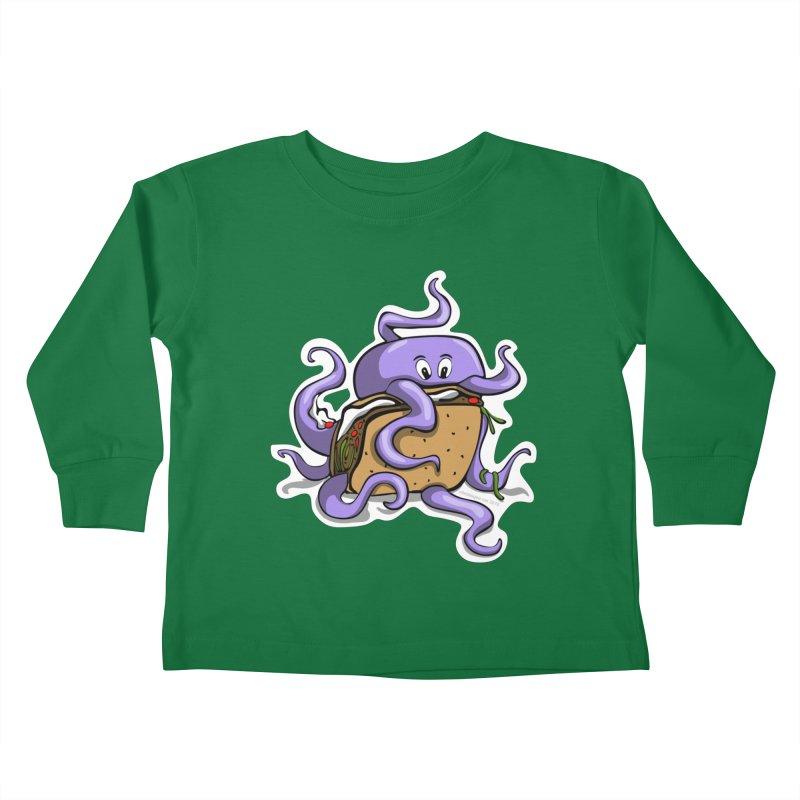 Taki Taco Kids Toddler Longsleeve T-Shirt by elledeegee's Artist Shop