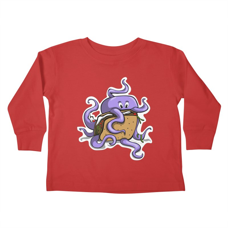 Taki Taco Kids Toddler Longsleeve T-Shirt by elledeegee's Artist Shop