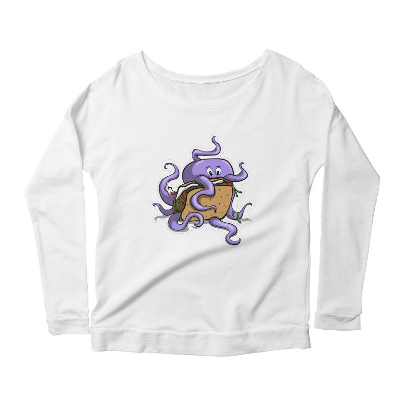 Taki Taco Women's Scoop Neck Longsleeve T-Shirt by elledeegee's Artist Shop