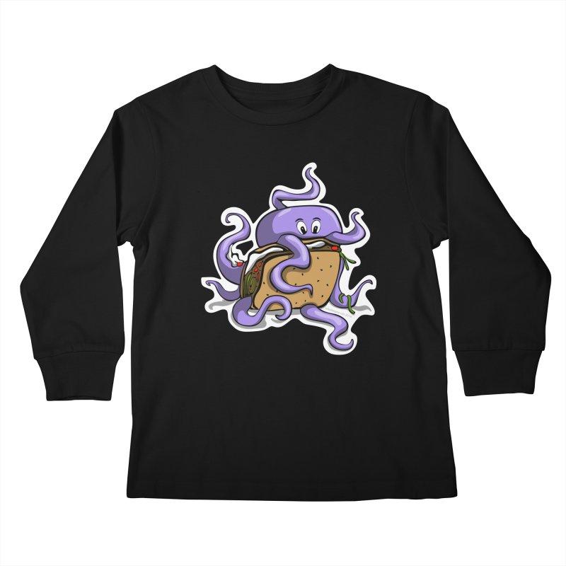 Taki Taco Kids Longsleeve T-Shirt by elledeegee's Artist Shop
