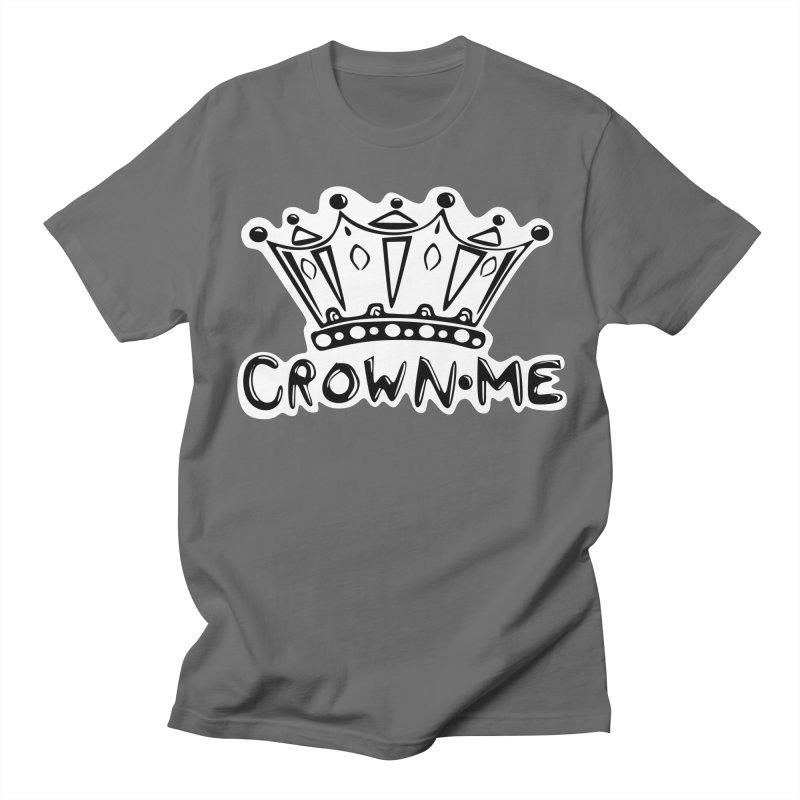 Crown Me Men's French Terry Zip-Up Hoody by elledeegee's Artist Shop