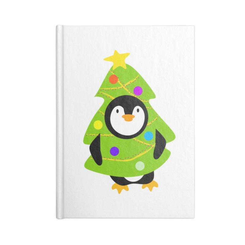 Christmas tree Penguin Accessories Notebook by elledeegee's Artist Shop