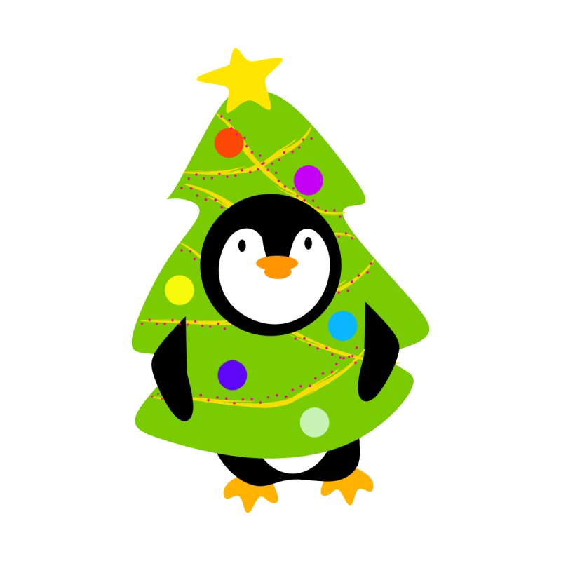 Christmas tree Penguin Kids Toddler Pullover Hoody by elledeegee's Artist Shop