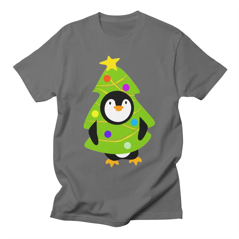 Christmas tree Penguin Men's T-Shirt by elledeegee's Artist Shop