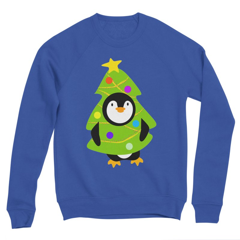 Christmas tree Penguin Men's Sweatshirt by elledeegee's Artist Shop
