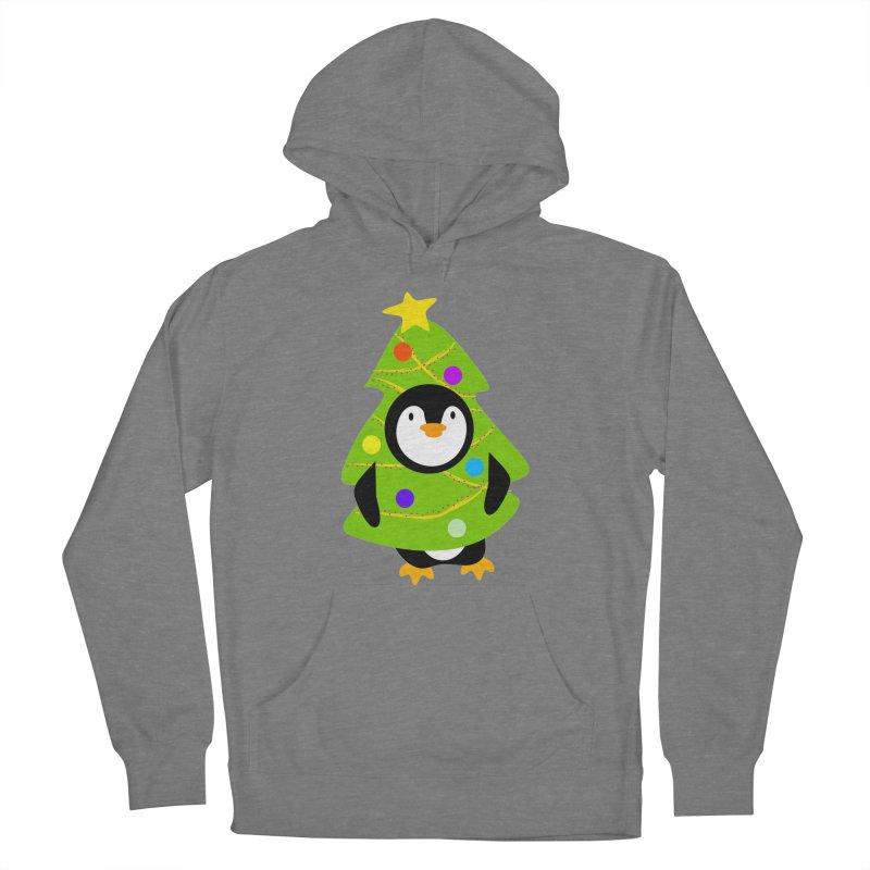 Christmas tree Penguin Women's Pullover Hoody by elledeegee's Artist Shop