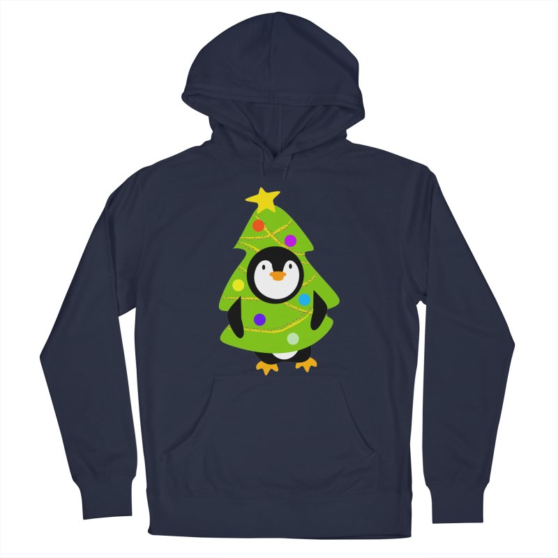 Christmas tree Penguin Men's Pullover Hoody by elledeegee's Artist Shop