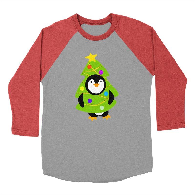 Christmas tree Penguin Men's Longsleeve T-Shirt by elledeegee's Artist Shop