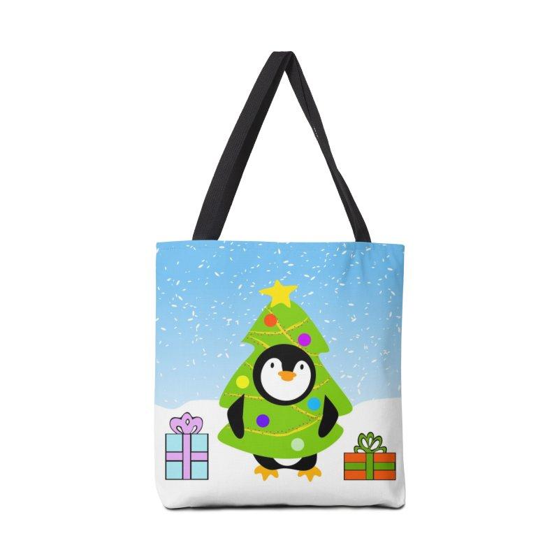 Christmas tree Penguin Accessories Bag by elledeegee's Artist Shop