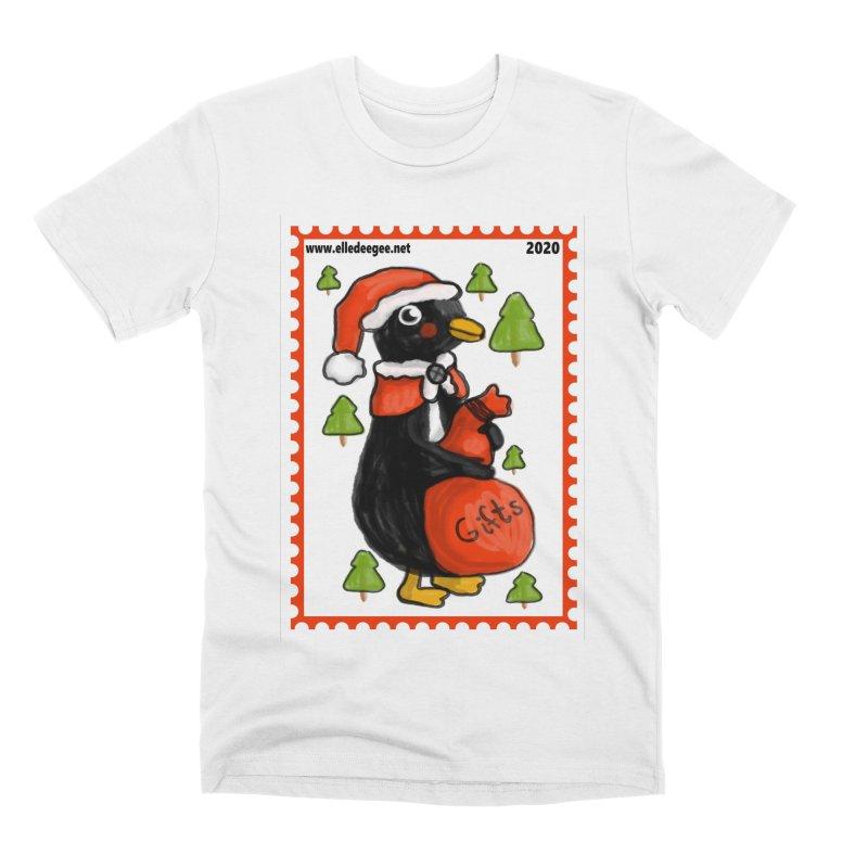 Postage Santa Penguin Men's T-Shirt by elledeegee's Artist Shop