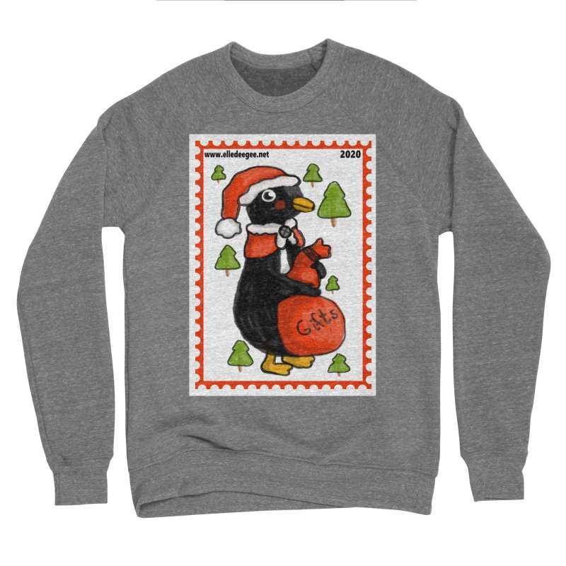 Postage Santa Penguin Men's Sweatshirt by elledeegee's Artist Shop